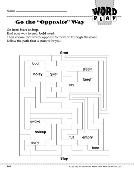 """Word Play: Go the """"Opposite"""" Way"""