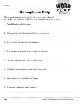 Word Play: Homophone Help