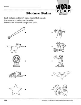 Word Play: Picture Pairs