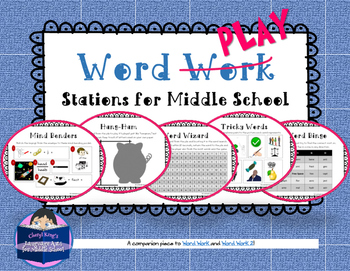 Word Play Stations for Middle School