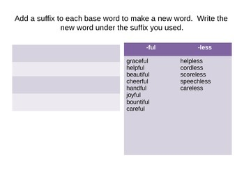 Word Play: Suffixes