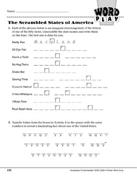 Word Play: The Scrambled States of America