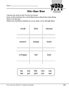 Word Play: Tic-Tac-Toe