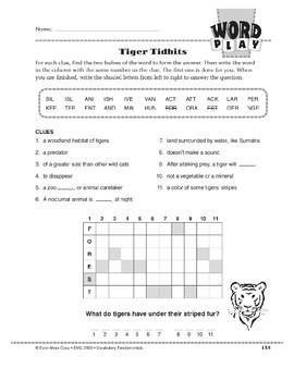 Word Play: Tiger Tidbits