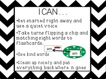 Word Poker Literacy Center Game for Sight Words
