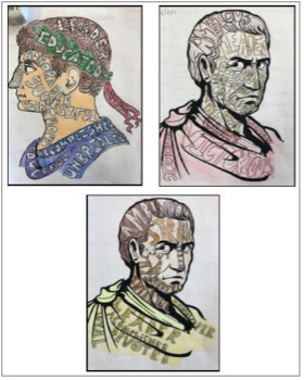 Word Portrait Project - Julius Caesar/Ancient Rome BUNDLE
