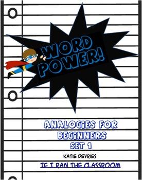Word Power  Analogies  Set 1