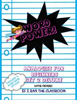 Word Power Analogies Set 2 Deluxe with Word Bank