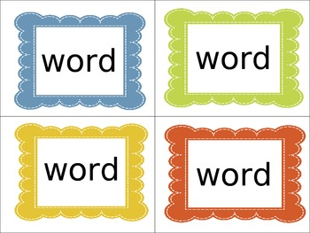 Word Power Cards (editable)