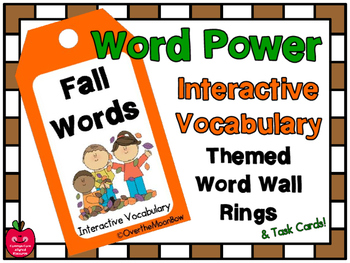 Word Power: Fall Interactive Vocabulary | Themed Word Wall Rings