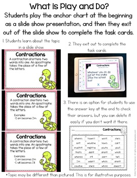Word Power Digital Task Cards - Paperless for Google Classroom Use