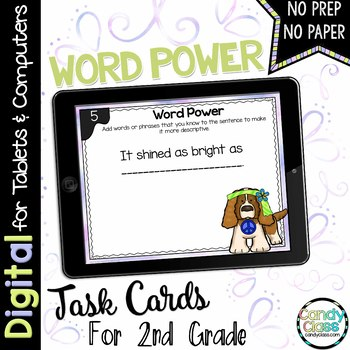 Word Power Task Cards for Google™ Use