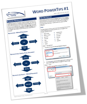 Word PowerTips #1 - Navigation and Find/Replace