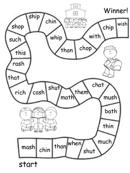 Word Practice Board Games: CVC words, digraphs, and blends