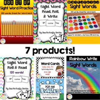 Word Practice Bundle - Sight Words, Word Work, First, Second