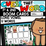 Word Practice LONG U Words BOOM CARDS Distance Learning