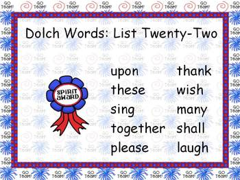 Word Practice Presentations {Cheering Kids - Dolch Word Edition}