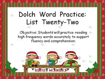 Word Practice Presentations {Christmas Kids - Dolch Word Edition}
