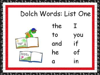 Word Practice Presentations {Reading Kids - Dolch Word Edition}
