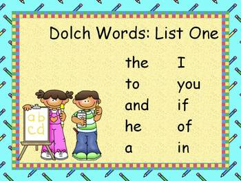 Word Practice Presentations {Writing Kids - Dolch Word Editions}