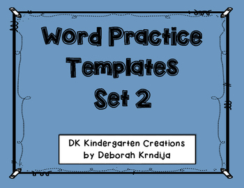 Word Practice Shapes - Set 2