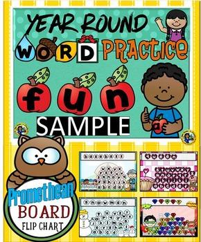 Word Practice Year Round Fun Interactive Activities FREE S