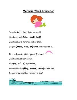 Word Prediction (Mermaid theme)