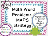 Word Problem 1.OA.1 MAPS 7 Problems and a Blank Page!