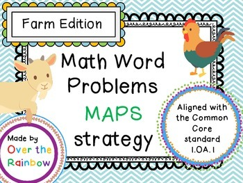 Word Problem 1.OA.1 MAPS Farm Edition! 10 Problems and a Blank Page!