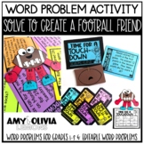 Word Problem Activity Solve to Create a Football Friend