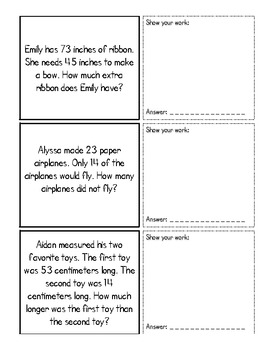 Word Problem Activity - great for Review! CCSS aligned!
