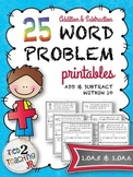 Word Problem (Addition & Subtraction Within 10) Printables