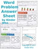 Word Problem Answer Recording Sheet