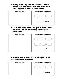 Word Problem Assessment
