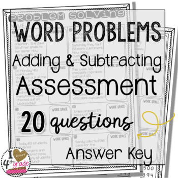 Word Problem Assessment for Adding and Subtracting