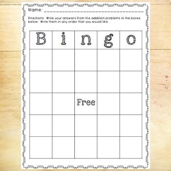 Word Problem Bingo