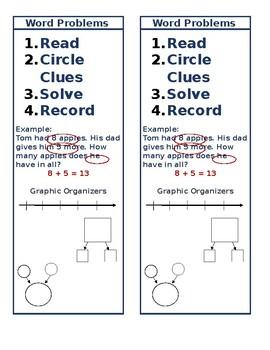 Word Problem Bookmarks