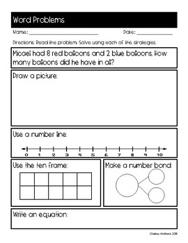 Word Problem Bundle (Addition and Subtraction)