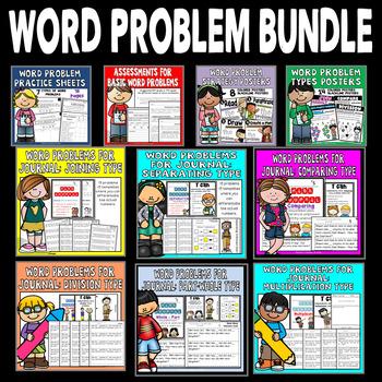 Word Problem Bundle: Math Assessments, Math Practice, Math Journal - Growing