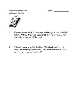 Word Problem Calculator Practice