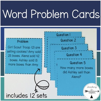 Word Problem Cards- 12 sets