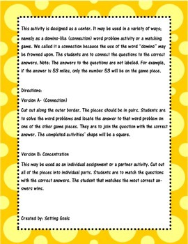 Word Problem Center Activity MCC5.NBT.7