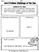 Word Problem Challenge Packet - 3rd Grade - 10 Two-Step CHRISTMAS Word Problems