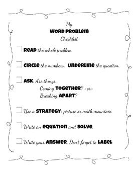 Word Problem Checklist