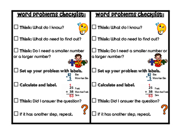Word Problem Checklist