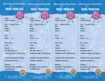Word Problem Solving Checklists: Show your work! {Freebie!}