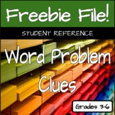 Word Problem Clues Student Reference
