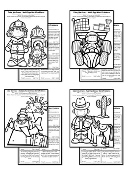 Word Problem Coloring Pages