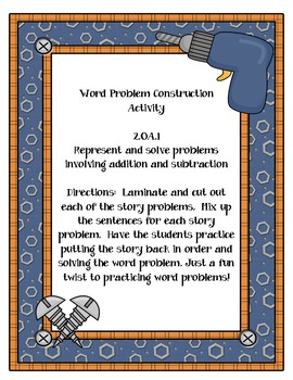 Word Problem Construction Activity