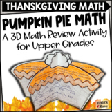 Word Problem Craftivity - Pumpkin Pie Problems